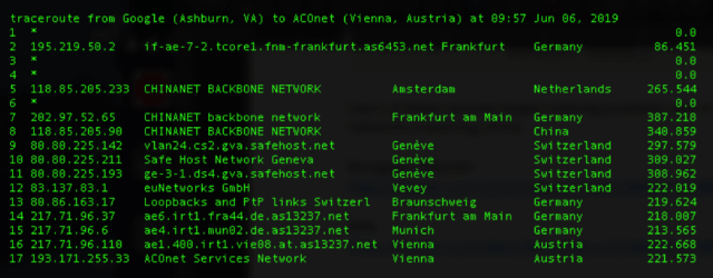 BGP-route-leak-sends-European-traffic-via-China-traceroute